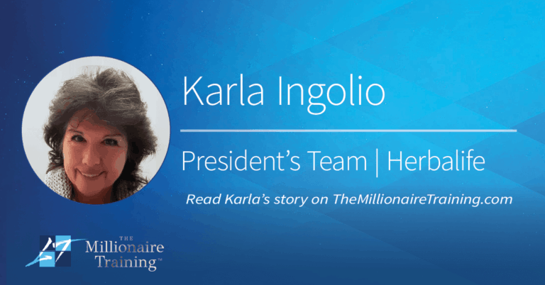 Karla Ingolio's Millionaire Training Story