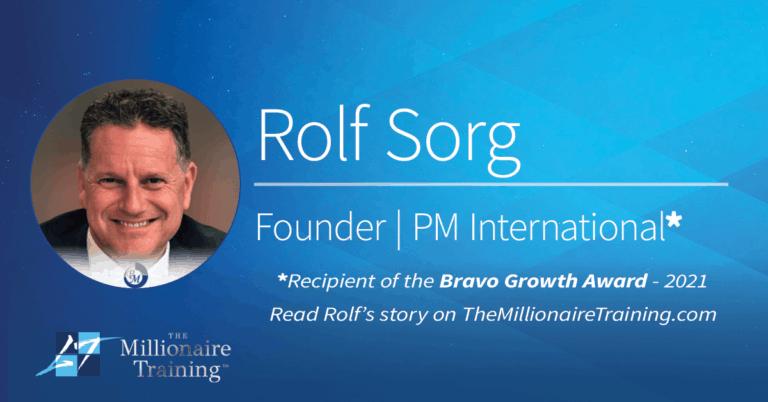 Rolf Sorg's Millionaire Training Story